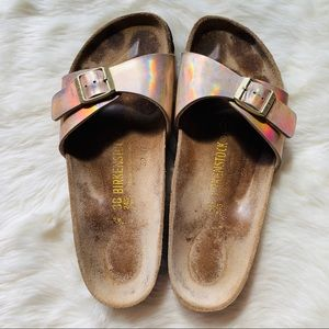 Birkenstock Madrid Iridescent Pink Sandals